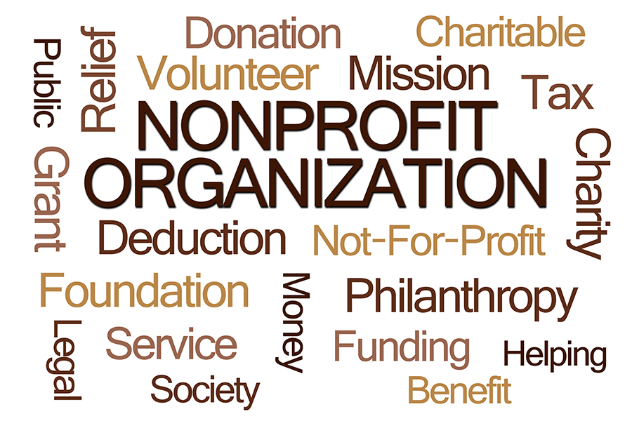 nonprofit technology word art
