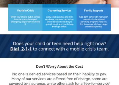 Child Guidance nonprofit web design