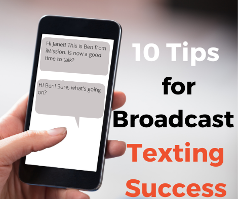 broadcast texting graphic